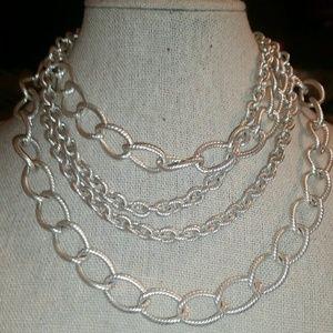 Stella & Dot 'LA Coco' Curb Chain Necklace & Brace